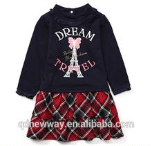 menina de impressão mais recentes modelos de vestido para crianças