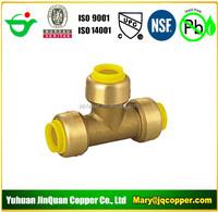 Push Fit Tee Lead Free cUPC NSF PEX COPPER CPVC Pipe Fittings