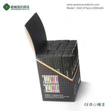 Wholesale Carbon fibre ecigs battery 2200mah GS EGO II twist vaporizer atomizers with ROHS CE