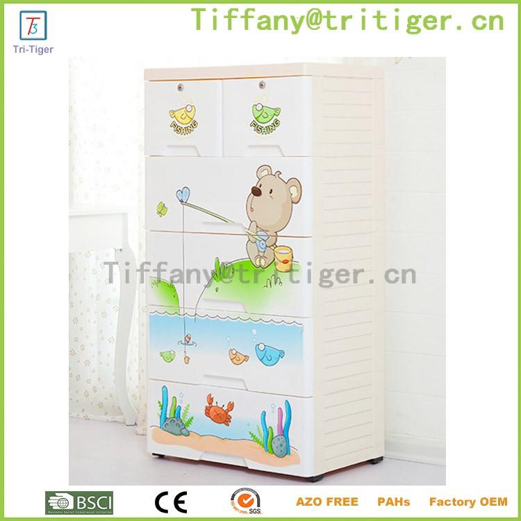 Blue color livingroom outdoor plastic storage cheap wardrobe cabinets for kids (2).jpg