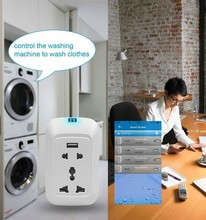 Smart Socket,Remote Control Wifi Plug Socket, Smart Home Travel Smart Adapter