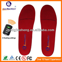 2015 winter Outdoor Skiing warmest heated insoles with remoter