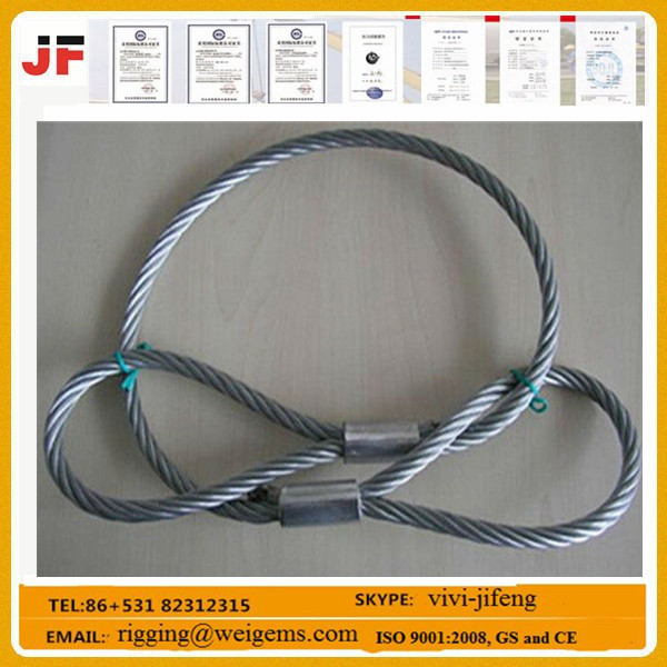 Stainless Steel Heavy Duty Lifting Slings Wire Rope Sling For Crane ...