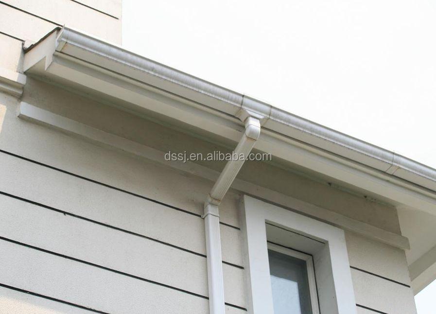 De pl stico de pvc para techos azulejos el agua de lluvia - Canalones de plastico ...