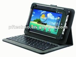 Hot! for 10.2 tablet pc leather case with keyboard