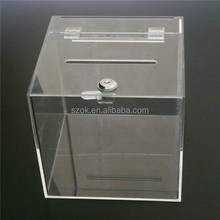 New exquisite high-end manufacturing 2 tier square acrylic box