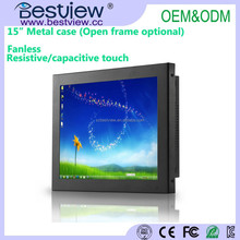 WIN7 WIN8 WINCE OS support 15 inch Industrial touch screen PC All IN ONE