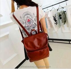 Hot Selling Vintage Backpack Leiture Bag Women Leather Backpack