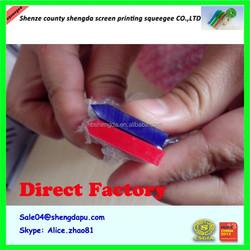 Green flat screenprint squeegee/Green v shape pu squeegee/Green round Polyurethane squeegee