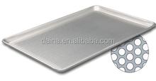 bakery oven/ baking oven used aluminum /aluminium alloy perforated tray, flat aluminum perforated tray