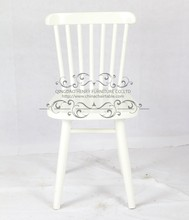 French White Wood Design Dining Chair