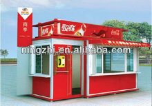 Small prefab house /prefab container shop /street corner shop