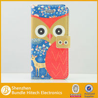 New pu leather owl phone case for iphone5 wholesale