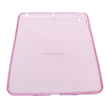 Clear TPU Jelly Gel Rubber Soft Skin Shell Cover Case for Apple iPad Mini 2/3 (Pink)
