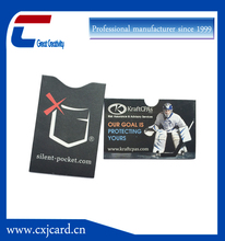 Top level pvc travel rfid blocking card sleeve for card and passport