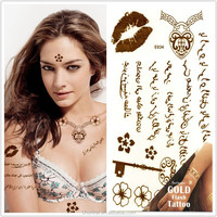 Personalized Tattoo Temporary Feature Sexy Body Art Arabic Tattoos