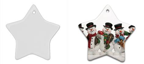 2015 Christmas Gift! Sublimation Hanging Star White Porcelain ...