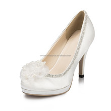 woman wedding shoes crystal and pearl wedding shoes