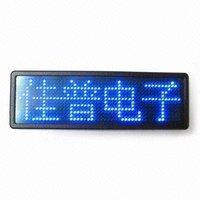 2015 (Direct Manufacturer)programmable led name badge mini led message board led famous brand badge