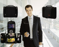 top quality E-commerce best sale black color mens hanging shaving toiletry bag