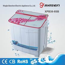 3.8kg mini semi automatic twin tub 12v washing machine made in china