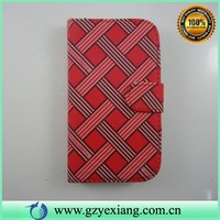 Gird Pattern design leather flip case cover for lg gx f310l