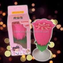birthday flower music candle with single packing