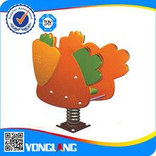 2015 Outdoor preschool &amusement park plastic swing the horse for kids(YL-YM007)