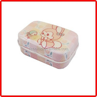 small empty rectangle wholesale tin metal case lipstick case