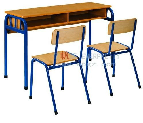 High Quality School Furniture Wooden Primary Desk And