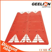 road way system durable anti slip hdpe rubber temporary road mats