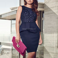 Middle aged women fashion dress good quality low price slim pencil dress