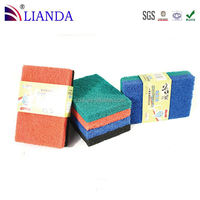 Hot sale general purpose cleaning sponge scouring pad rolls