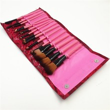 2015 New 15Pcs Makeup Brushes Eye Facial Cosmetics Kit Hot Sale Pink Naked Make Up Brush set Professional With Natural Hair