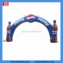 Wholesale durable PVC fabric outdoor events entrance arch famous drink design inflatable arch for advertising