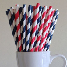 Christmas Products Colorful Paper Stripey Straws
