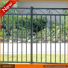 Powder coated galvanized steel fence panels for garden