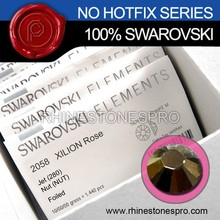 Original Swarovski Elements Jet Nut (280 NUT) 7ss Flat Back Crystal Non HotFix