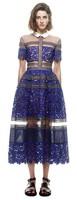 Short sleeve ankle length new and fashion Elegant Lace Dress