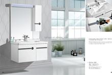 Foshan manufacturer cheap price waterproof wall mount wood bathroom furniture (BP-1005)