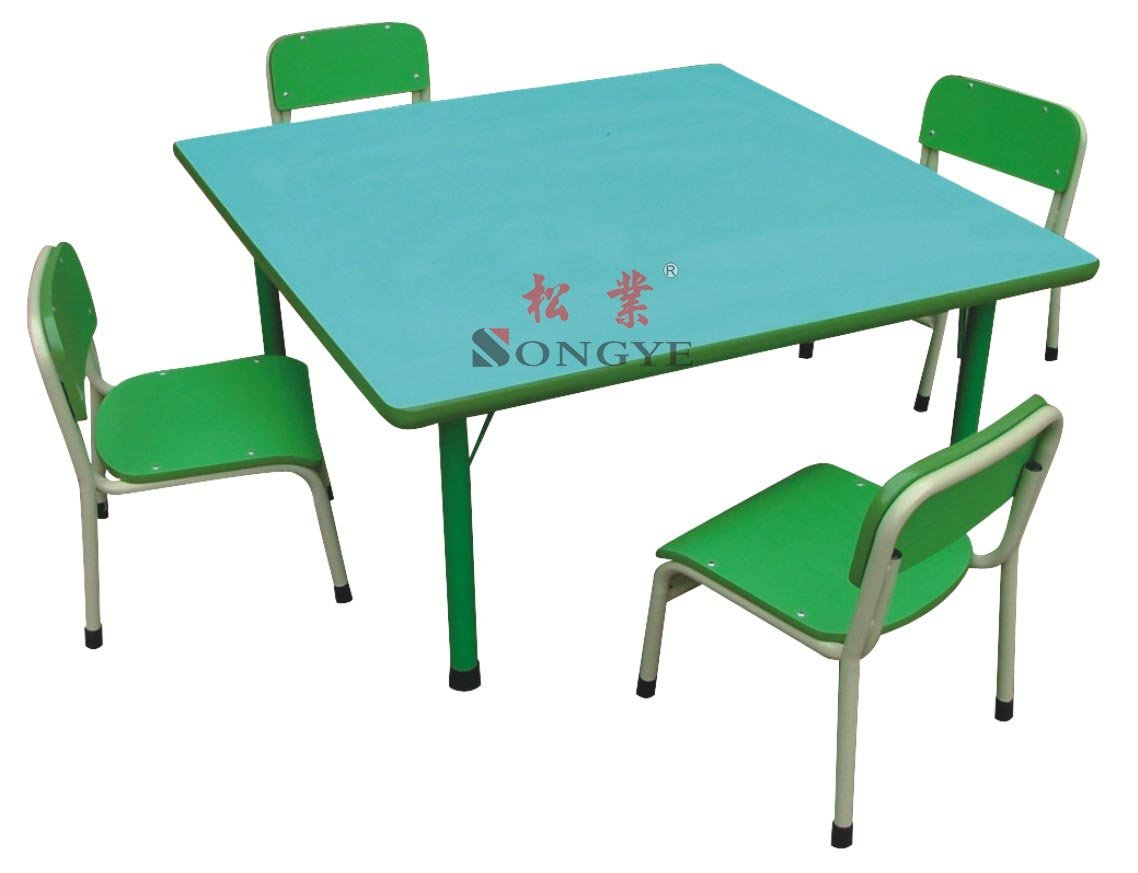 Kid 39 s square table school desk and chair desk and chair for School furniture