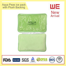Hot Sale Eco-friendly Gel Beads Hot Cold Pack with plush backing