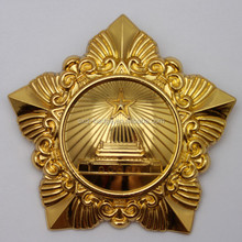 Metal Military gold badge for promotion
