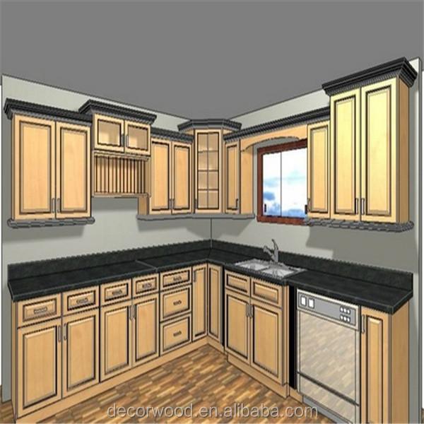 Muebles de cocina de madera maciza estilo europeo, fábrica de ...