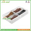 Underbed clear PVC with fabric box to store shoes/boots