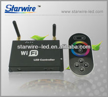 Mobile Phone IOS Android System WiFi Wireless RGB LED SPI Controller With Remote