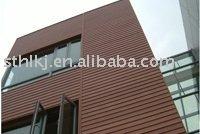 Outdoor wood plastic composite wall panel