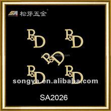 Song A metal logo metal charm,metal plates brand logos for handbag,custom metal logo labels for handbags