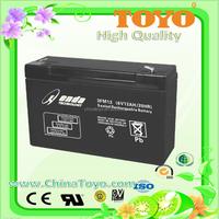 Free Maintenance lead acid ups battery for emergency light battery 6v 12Ah Lead Acid Battery