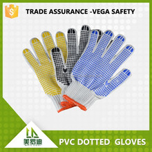 linyi city wholesale PVC dotted gloves ,7/10/13gaugue antislip,abrasion resistance safety industrial gloves
